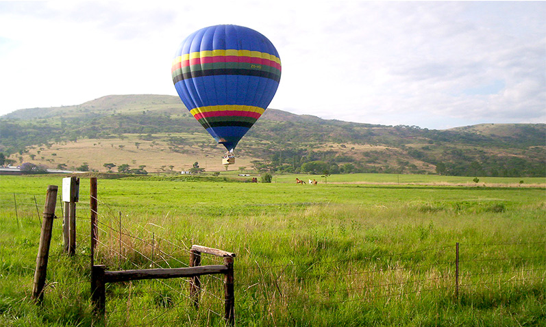 Enjoy the green terrain of the Midlands with a hot air ballooning experience.